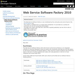 Web Service Software Factory 2010
