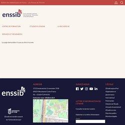 Le service stages & emplois de l'Enssib