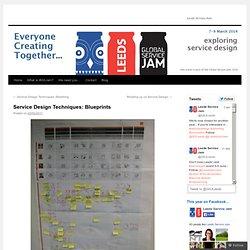 Service Design Techniques: Blueprints