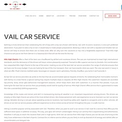 Vail car service - Mile High Chariot LLC