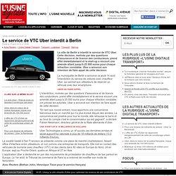Le service de VTC Uber interdit à Berlin