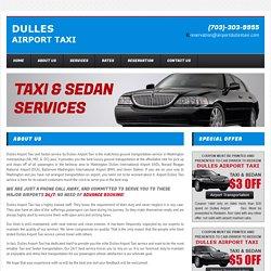 Dulles taxi service Virginia