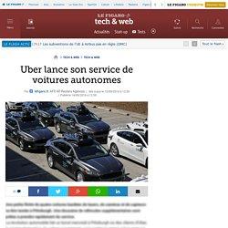 Uber lance son service de voitures autonomes