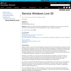 Service Windows Live ID