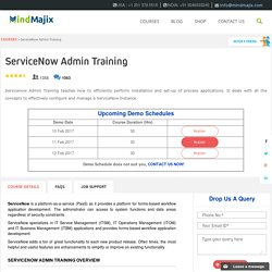 Live ServiceNow Admin Training Classes by ServiceNow Experts