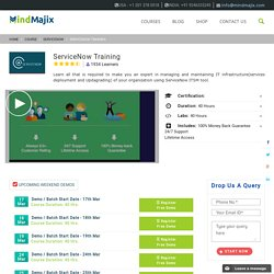 ServiceNow Training by Mindmajix - USA