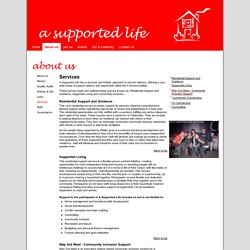 Services - A Supported LIfe