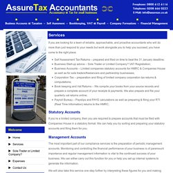 Tax Return Services - Accountancy Croydon, UK