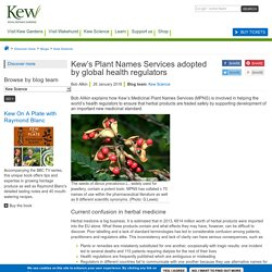Kew's Plant Names Services used by global health regulators
