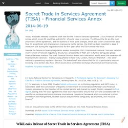 Secret Trade in Services Agreement (TISA) - Financial Services Annex