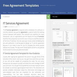 MS Word IT Services Agreement Template
