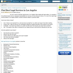 Avail the Best Legal Services in Los Angeles