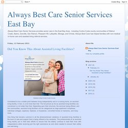 assisted living in Contra Costa County