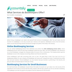What Services do Bookkeepers Offer?