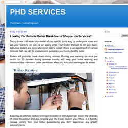 PHD SERVICES : Looking For Reliable Boiler Breakdowns Shepperton Services?