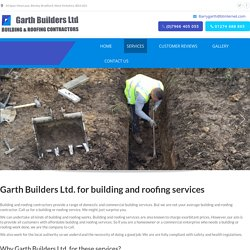 Services - Garth Builders Bradford