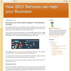 Why Would You Trust an SEO company?