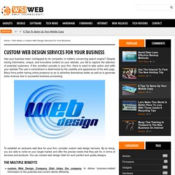 Custom Web Design Services for your Business