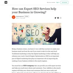 How can Expert SEO Services help your Business in Growing?