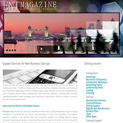 Support Services for New Business Startups - ENT Magazine London, UK