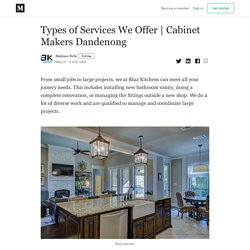 Types of Services We Offer