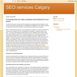 SEO services Calgary: Five things that can make a website work brilliantly for your brand!