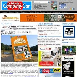 1050 aires de services pour camping-cars gratuites en France - Infos