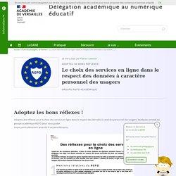 Le choix des services en ligne dans le respect des données à caractère personnel des usagers
