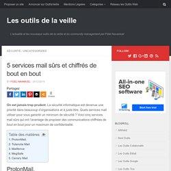 5 services mail sûrs et chiffrés de bout en bout
