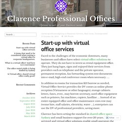Start-up with virtual office services – Clarence Professional Offices