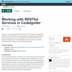 Working with RESTful Services in CodeIgniter