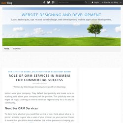 Role of ORM Services in Mumbai for Commercial Success