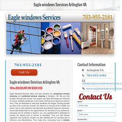Commercial windows cleaning Arlington VA