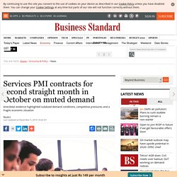 Services PMI contracts for second straight month in October on muted demand