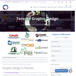 Toronto Graphic Design Services, Logo Design, Corporate Identity, more!
