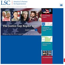 LSC — Legal Services Corporation: America's Partner for Equal Ju