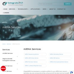 miRNA Services - Creative Biogene IntegrateRNA