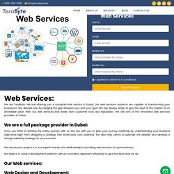 Web Services Dubai - Web Designing and Development, SEO SMO SMM