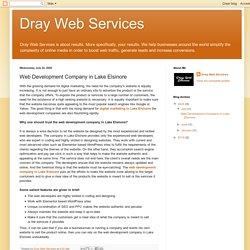 Dray Web Services: Web Development Company in Lake Elsinore