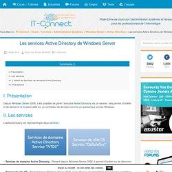 Les services Active Directory de Windows Server