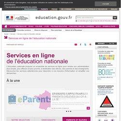 Services en ligne de l'éducation nationale