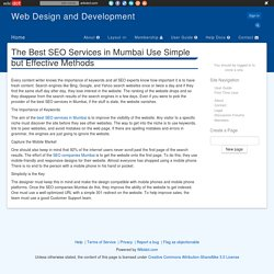 The Best SEO Services in Mumbai Use Simple but Effective Methods
