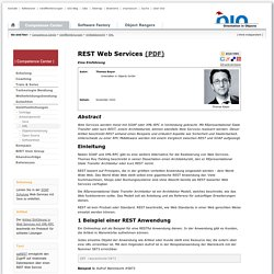 REST Web Services - Einführung u. Vergleich mit SOAP