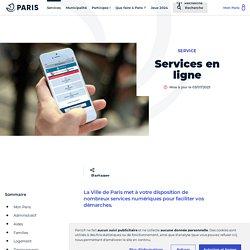 Services en ligne - Ville de Paris