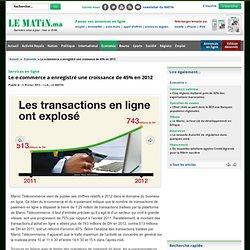 Services en ligne : Le e-commerce a enregistré une croissance de 45% en 2012