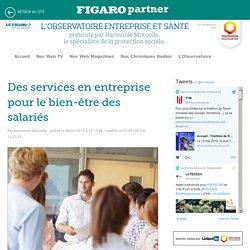 Des services en entreprise pour le bien-être des salariés