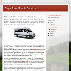 Cape Town Shuttle Services: Finding excellent limo service at the most affordable rate