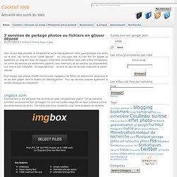 7 services de partage photos et fichiers: glisser et partager