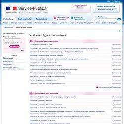 Services en ligne et formulaires - Service-public.fr