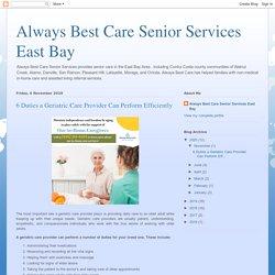 Geriatric Care Contra Costa County